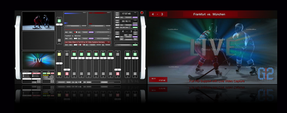 Live Video Mixer Videomischer Overlay Textinserter